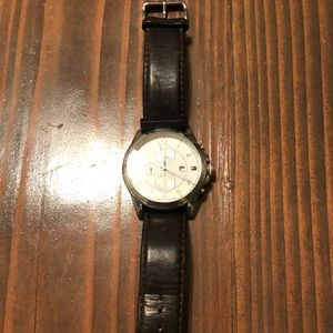 Tommy Hilfiger brown chocolate leather watch